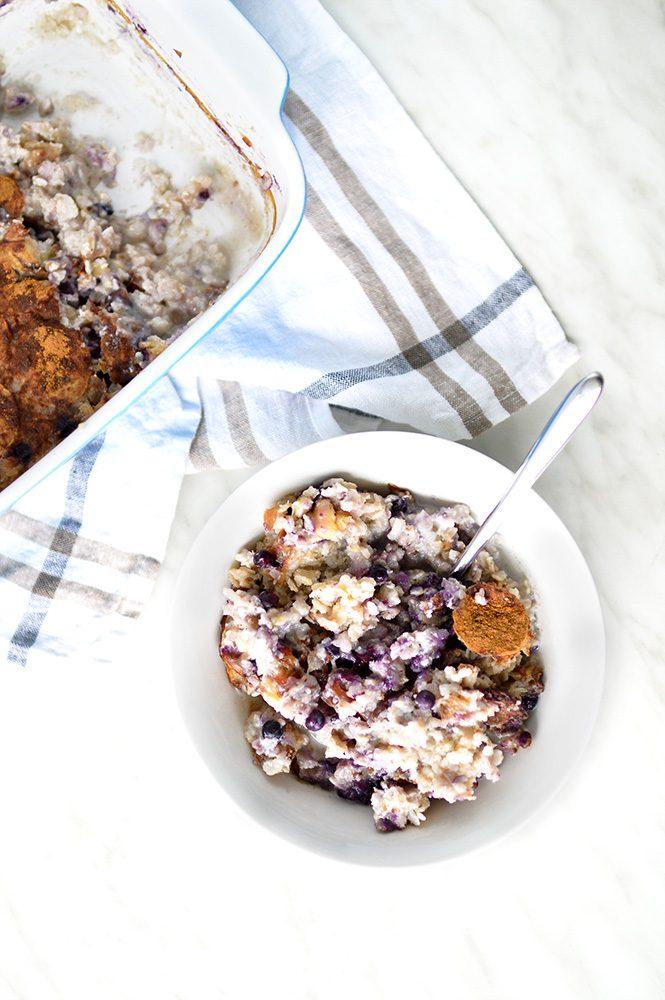blueberries & banana porridge