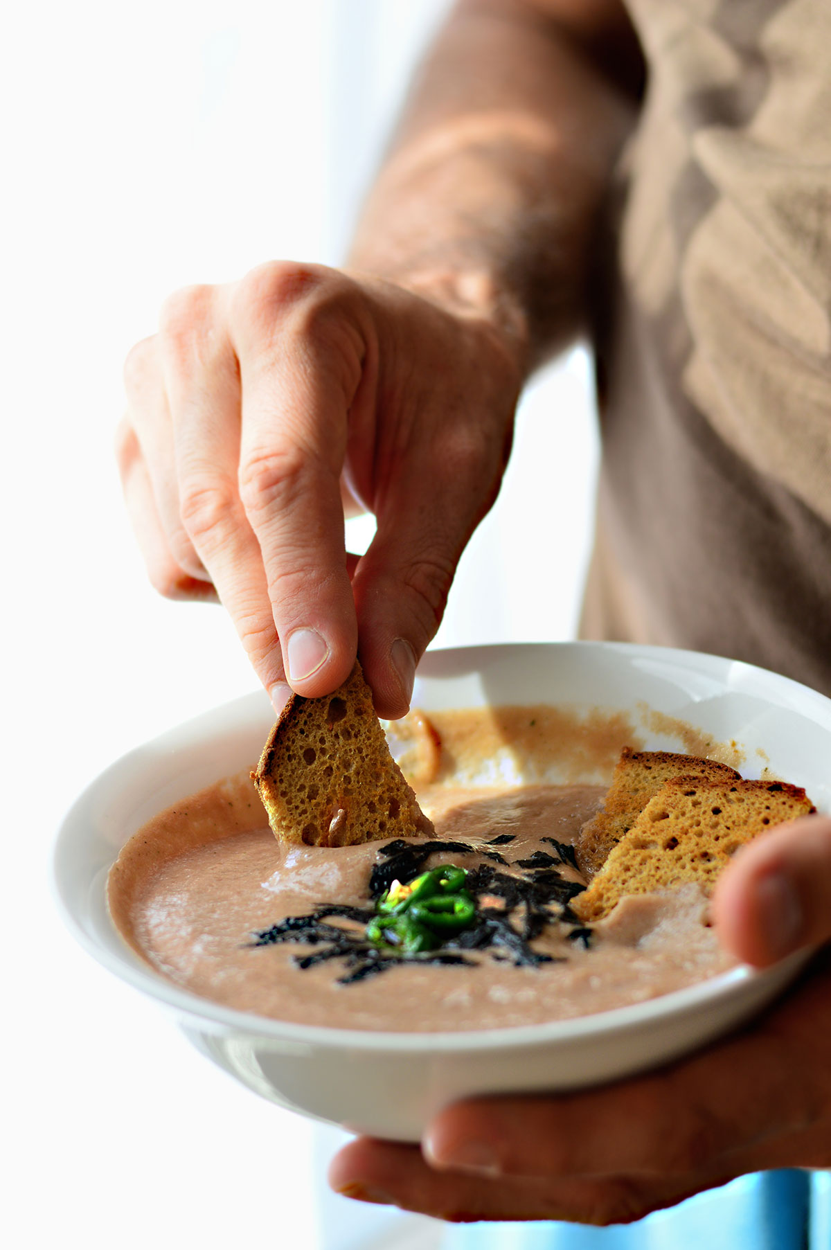 Oil Free Vegan Mushroom Soup